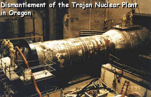 Dismantlement of the Trojan Nuclear Plant in Oregon