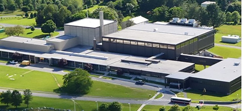 Aerial view of the NIST Center for Neutron Research in Gaithersburg, Maryland