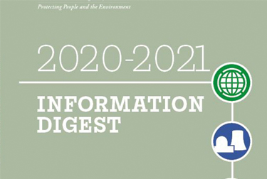 Image with text on it that reads 2020-2021 information digest.
