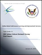 Photo of Cover of the Safety Culture Policy Statement Outreach Effectiveness Report