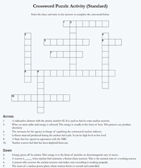 Nrc the student corner fun games image of crossword puzzle activity standard page consisting of the following title and answers urtaz Image collections