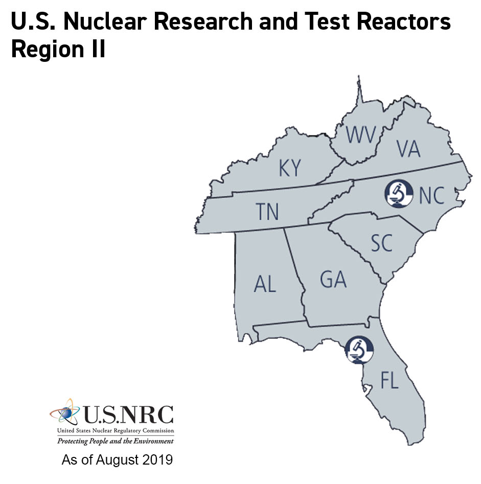 NRC NRC Maps Of Research And Test Reactors - Georgia map test