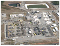 Photograph of the F-Area Tank Farm in Aiken, South Carolina
