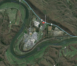 Aerial photo of BWXT Nuclear Operations Group Inc.