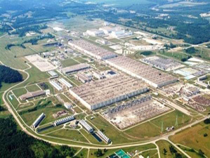 Aerial photo of USEC - American Centrifuge Plant, Piketon, OH