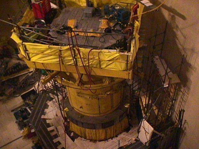 Looking Down (second angle) at the Davis Besse Reactor Head Inspection Area