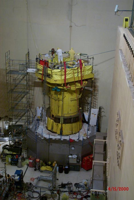 Overview of the Davis Besse Reactor Head Inspection Area