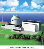 Artist's rendering of a nuclear plant