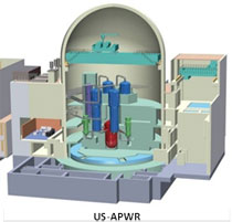 Artist's rendering of a cutaway reactor model