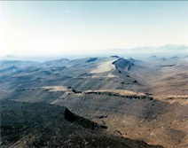 Aerial photo of Yucca Mountain