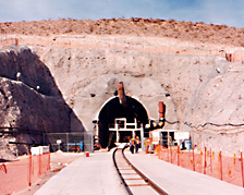 Entrance Tunnel at Yucca Mountain