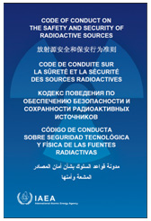 Code of Conduct on the Safety and Security of Radioactive Sources Cover